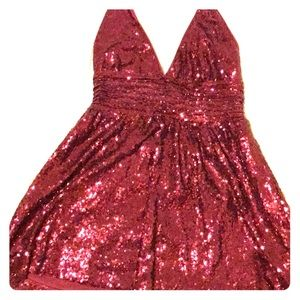 Forever 21 Exclusive Red Sequin Mini Dress